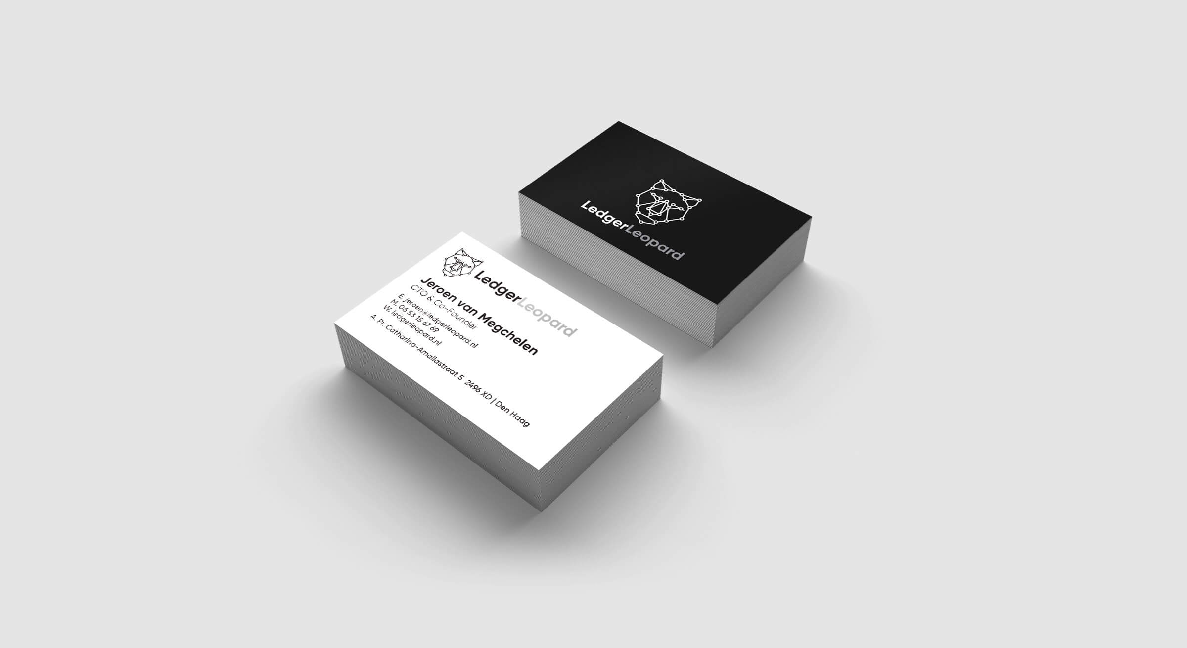 Hello machacas designed ledger leopard identity and website and business cards colourmoves Image collections